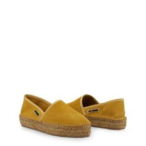 Love Moschino Yellow Suede Espadrille Slip-ons